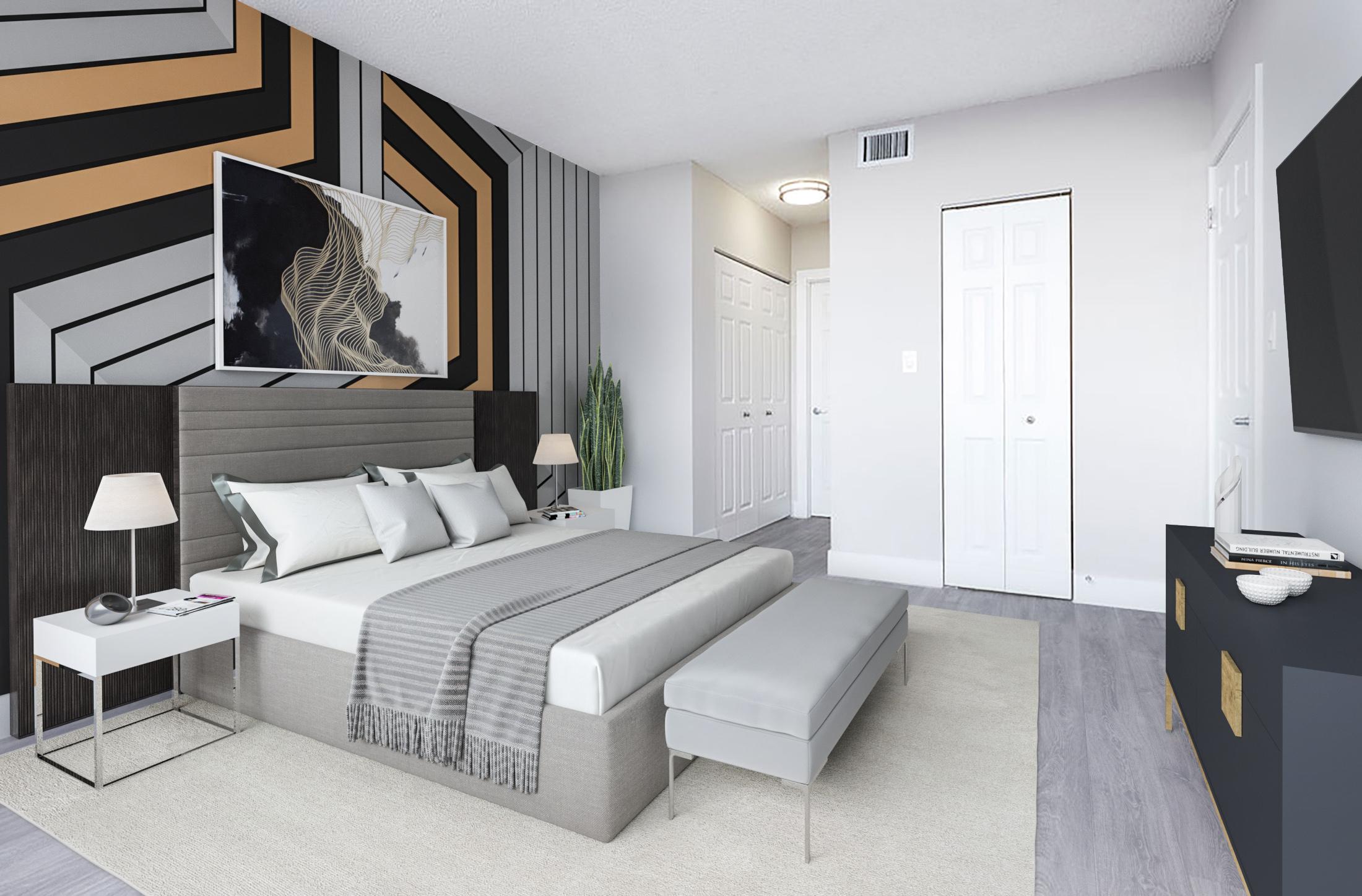 Aliro apartment bedroom